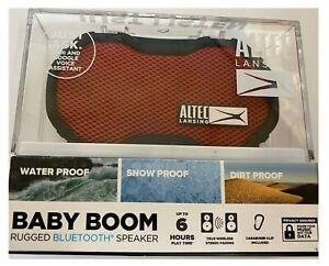 Altec Lansing - Baby Boom Portable Bluetooth Speaker Waterproof- Red - IMW269N-R