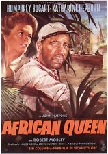 The African Queen Movie Promo Poster German Humphrey Bogart Katharine Hepburn