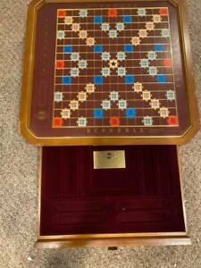 Franklin Mint Scrabble The Collector's Edition 24 Karat Gold Plated Set W/Tiles