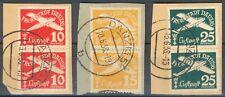 Danzig Lot/Posten mit 3x 2er Streifen als Briefstücke der Mi.-Nr.251-253 o RARE