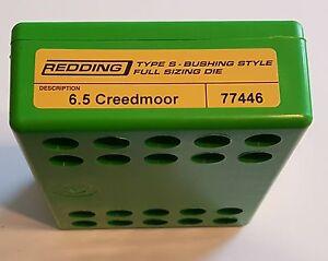 77446 REDDING TYPE-S FULL LENGTH BUSHING SIZING DIE - 6.5 CREEDMOOR - BRAND NEW