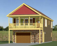 20x40 House -- 2 Bedroom 1.5 Bath -- 1,053 sq ft -- PDF Floor Plan -- Model 6