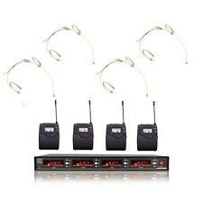 Cordless Microphone headset 4 Channels uhf Wireless microphones