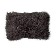 Bloomingville Cojín de MONGOLIA Piel De Cordero gris cojín de piel 35x35 Relleno