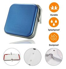 40 CD DVD Carry Case Disc Storage Holder CD Sleeve Wallet Ideal for In Car BLUE
