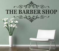 The Barber Shop Wall,Window Sticker Quote Salon Art Decal Window DIY s75