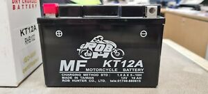 Kt12a Motorcycle Gel Battery Fits sv 650, 12v 10Ah replaces yt12a-bs, ytr9-bs