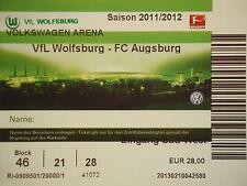TICKET 2011/12 VfL Wolfsburg - FC Augsburg