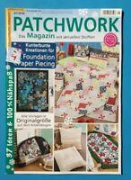 Patchwork 01/2020 Das Magazin mit aktuellen Stoffen ungelesen 1A abs.TOP