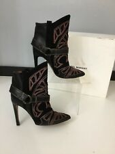 Isabel Marant Womens Heel Berry Boots Shoes Blackson Size 3 36 Red Suede Leather