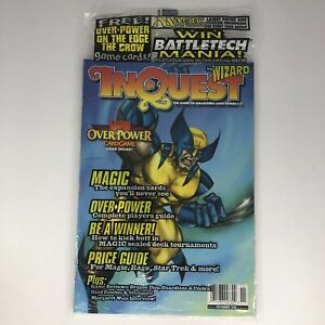InQuest Magazine #7 1995 November MTG OVERPOWER WOLVERINE Polybag New