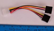"5"" Molex to 2 SATA Power Adapter"