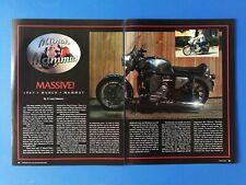 1967 Munch Mammut Motorcycle - Original 4 Page Article