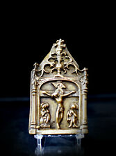 Crucifixion - haute epoque - baiser de paix - XV siecle - bronze - Renaissance
