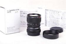 New MS-Optical Sonnetar 73mm f/1.5 F-MC Black Miyazaki Leica M10P M240 M9 w/Caps
