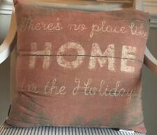 HOME FOR CHRISTMAS Throw Pillow, Primitives by Kathy 18x18