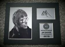 More details for liam gallagher - signed autograph display - limited edition - oasis