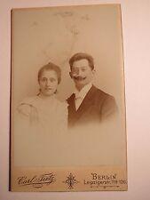 Berlin - Emmi Goldschmidt u. Bernhard Hagen als Brautpaar am 20. Mai 1900 / CDV