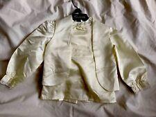 Aaron Sports London True Vintage Cream Satin Trouser Suit Age 18/22 Months