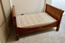 More details for antique french empire style bateau lit sleigh or boat bed