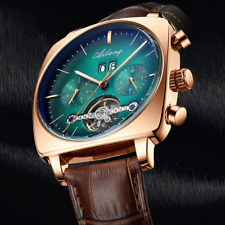 Men's Automatic Mechanical Waterproof Luminous Original Leather Strap Watch