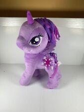 "My Little Pony Talking PURPLE TWILIGHT SPARKLE UNICORN 12"" Plush STUFFED ANIMAL"