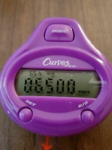 Pedometer for Walking, Jogging or Running - Curves Brand - Brand New - Purple