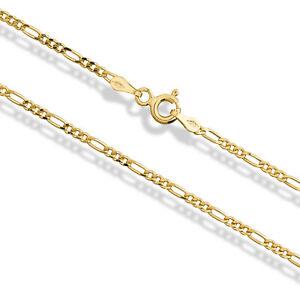 Goldkette Figarokette 585 Gelbgold 14 Karat 55cm - 1,8mm Echt Gold Halskette Neu