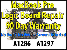 """APPLE MACBOOK PRO 15"""" A1286 2.0Ghz 820-2915 2011 LOGIC BOARD REPAIR *NEW GPU*"""