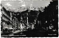 Ansichtskarte Innsbruck - Maria Theresienstrasse mit Nordkette - schwarz/weiß
