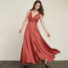 Reformation Arabella Strawberry Wrap Front Long Maxi Dress for Boobs Wedding XS