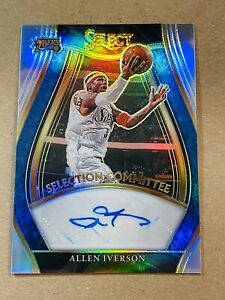 Allen Iverson 2020-21 Panini Select Silver Prizm Auto Selections Committee