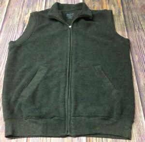 Woolrich Mens Brown Medium Full Zip Sweater Vest Preowned