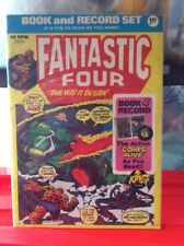 THE FANTASTIC FOUR the WAY IT BEGAN Power BOOK AND 45 RECORD SET 1974  PR13