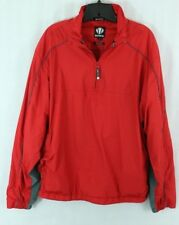 Sunice men's M Weather Pullover Red Windbreaker Jacket Zip Neck Light Coat