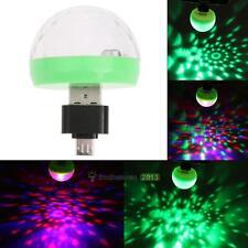 Mini LED USB Powered RGB Disco Ball Stage Effect Party Club DJ Light Bulb Home