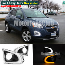 LED DAYTIME RUNNING LIGHT FOR CHEVY CHEVROLET TRAX DRL 2013 14 15 2016 W/ SIGNAL