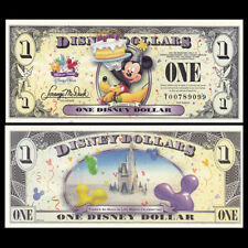 Disney 1 Dollar, 2009, D Series, UNC Fantasy Banknote Mickey Mouse