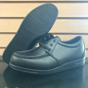 7.5 E3 Red Wing Shoes Made In USA 8611 Moc Toe Black Work SD Casual Oxford VTG