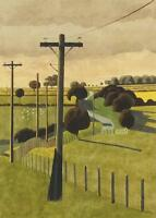 ORIGINAL SIMON PALMER PAINTING, SIGNED & TITLED, THE WAY TO THE MOORS