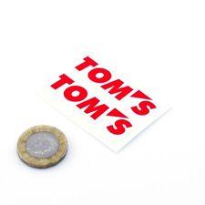 Toms Toyota Sticker Decal Car Vinyl 50mm x2 Toyota Performance Parts