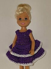 Handmade Chelse/Kelly mattel doll clothes - Purple