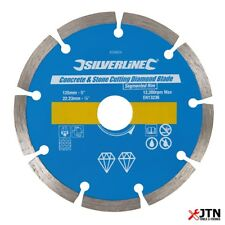 Silverline 633624 Concrete & Stone Cutting Diamond Blade Disc 125mm x 22.23mm