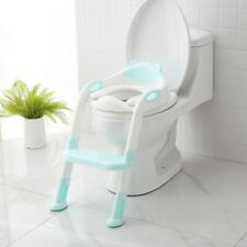 Potty Trainer Toilet Cushion Seat Chair Baby Kids Toddler w/ Step Stool Ladder