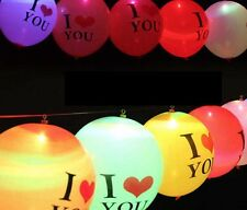 5 GLOBOS DE LUZ LED I LOVE YOU FIESTAS BODAS DECORACIÓN EVENTOS DESPEDIDAS