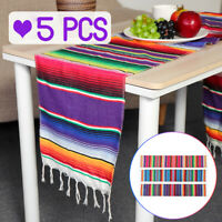 14x84'' Mexican Table Runner Serape Tablecloth Wedding Eid Mubarak Party Decor