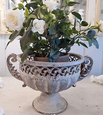 Pokal Amphore Vase Metall Antik Gtrau Patina Shabby Vintage Nostalgie Deko