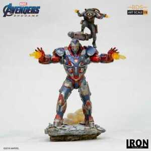 Iron studios 1:10 Iron Patriot & Rocket Avengers: Endgame - Art Scale Box Damage
