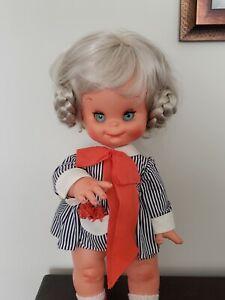 "15"" Vintage Furga Mariannina Toddler Silver Blonde Italian Doll Original 1960's"