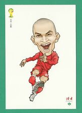 FOOTBALL - DUHZE POSTCARD OF CHINA - FOOTBALL WORLD CUP 2014  -  GOKHAN  INLER
